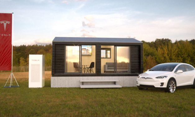 Tesla wirbt auf deutscher Messe mit Tiny House