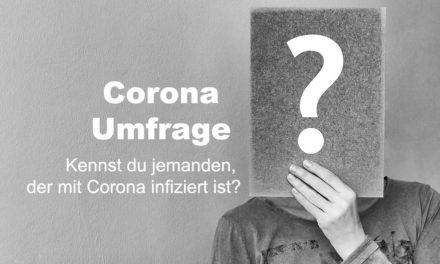 UMFRAGE: Kennst du jemanden, der mit Corona infiziert ist?
