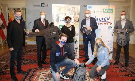 Kärnten Sport-Vertragssportler in neuer Kleidung