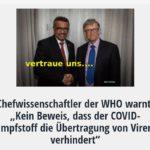 """Chefwissenschaftler der WHO warnt: """"Kein Beweis, dass der COVID-Impfstoff die Übertragung von Viren verhindert"""""""