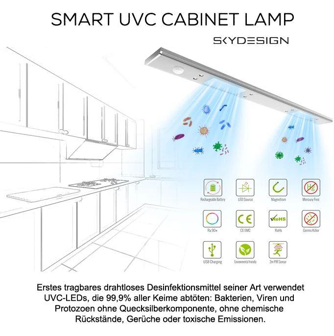 uv-lampen desinfektion von skydesign
