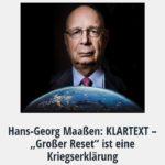 """Hans-Georg Maaßen: KLARTEXT – """"Großer Reset"""" ist eine Kriegserklärung"""