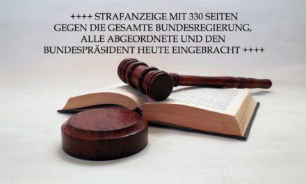 Strafanzeige gegen die Regierung (Kurzfassung)