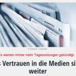 Das Vertrauen in die Medien sinkt weiter