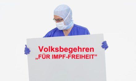 """Volksbegehren """"FÜR IMPF-FREIHEIT"""""""
