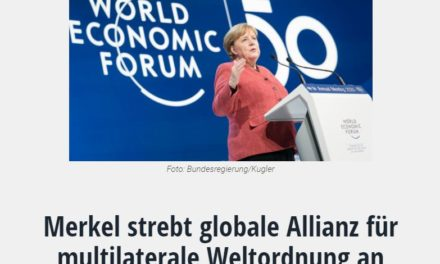 Merkel strebt globale Allianz für multilaterale Weltordnung an