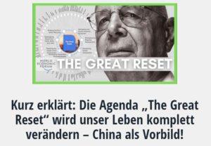 Agenda The Great Reset