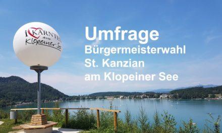 Umfrage Bürgermeisterwahl St. Kanzian am Klopeiner See