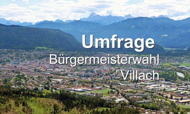Umfrage Bürgermeisterwahl Villach