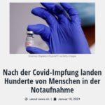 Nach der Covid-Impfung landen Hunderte von Menschen in der Notaufnahme