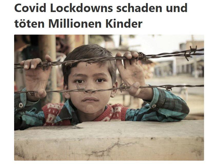 Covid Lockdowns schaden und töten Millionen Kinder