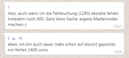 Verluste mit Modic Coin
