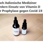 Auch italienische Mediziner fordern Einsatz von Vitamin D zur Prophylaxe gegen Covid-19