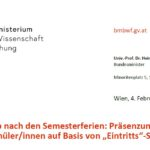 """Präsenzunterricht für alle Volksschüler/innen auf Basis von """"Eintritts""""-Selbsttests"""