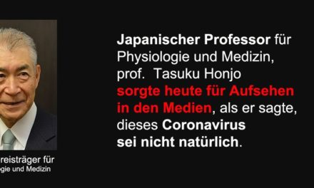 * SCHOCKIEREND * Japanischer Professor für Physiologie und Medizin: Coronavirus sei nicht natürlich