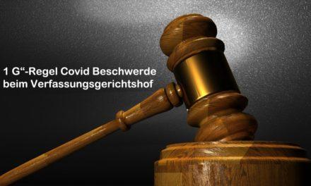 """1 G""""-Regel Covid Beschwerde beim Verfassungsgerichtshof"""