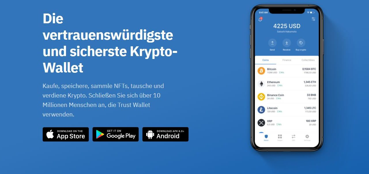 Trust Wallet: das vertrauenswürdigste und sicherste Krypto-Wallet