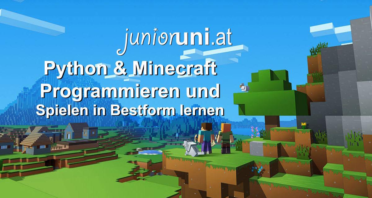 junioruni.at ✔️ Python & Minecraft – Programmieren und Spielen in Bestform lernen